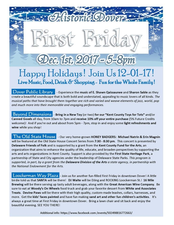 First Friday Dec 2017 Flier